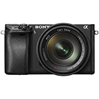 Sony Alpha 6300 E-Mount Systemkamera (24 Megapixel, 7,5 cm (3 Zoll) Display, XGA OLED Sucher) Zeiss Kit (16-70mm Objektiv) schwarz