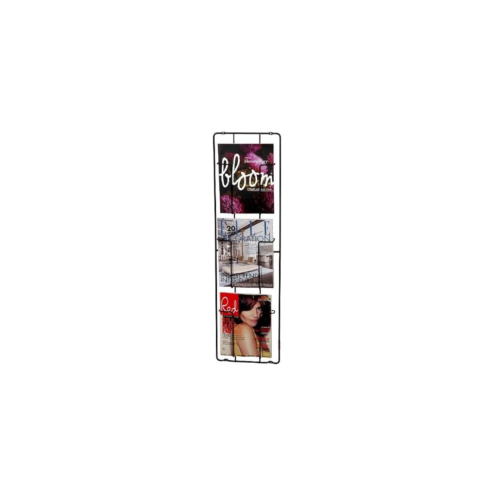 puhlmann porte revues mural 3 compartiments noir inspid co. Black Bedroom Furniture Sets. Home Design Ideas