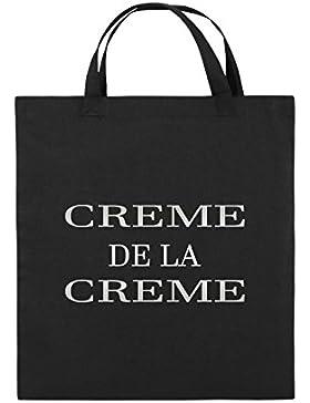 Comedy Bags - CREME DE LA CREME - Jutebeutel bedruckt, Baumwolltasche zwei kurze Henkel aus 100 % Baumwolle in...
