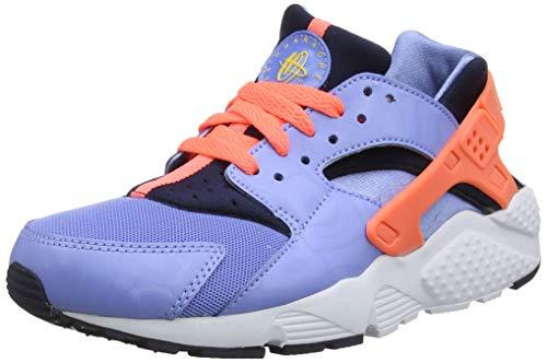 Nike Mädchen Huarache Run (GS) Laufschuhe, Mehrfarbig(Blau / Gelb / Schwarz (CH-LK Blau / Brght Mng-Obsdn-Cnry), 38 EU