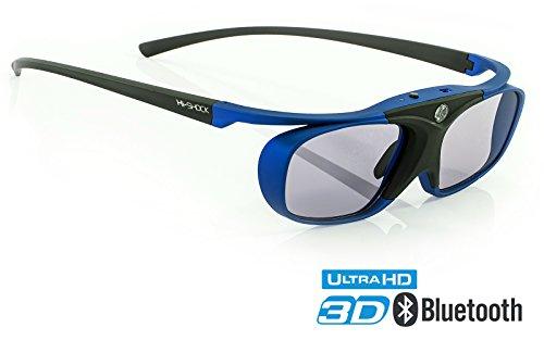 "Hi-SHOCK® 3D-BT Pro \""Deep Heaven\"" | Smart Active 3D Brille für 3D TVs kompatibel mit Sony, Samsung, Panasonic, LG, Hisense [Akku | 32g | Shutterbrille | Bluetooth | 120 HZ]"