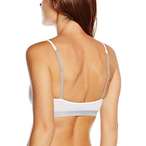 Calvin Klein Underwear - Soutien-Gorge de Sport - Brassière - Uni - Femme Bianco (WHITE 100)