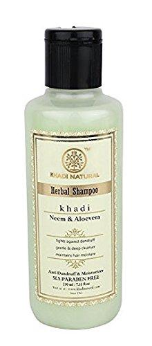Natürliche Kräuter Neem und Aloe Vera Sls und Parabenen freies Shampoo (210 ml) - von Khadi Organic Natural -
