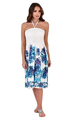 Pistachio, Ladies Floral 3 in 1 Cotton Summer Dress, Purple
