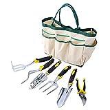 Descrizione:       - Un kit di attrezzi da giardino così ben progettato e realizzato! - Ci sono 8 tasche esterne sulla borsa da giardino, che assicura che gli attrezzi e gli altri accessori da giardino rimangano al sicuro in borsa per lunghi ...