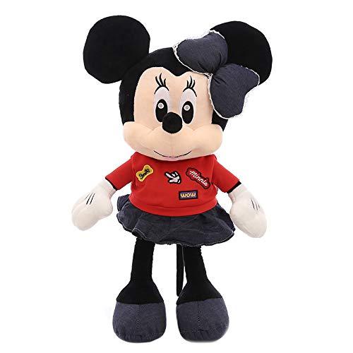 hzbftoy Mickey Minnie, Plüsch-Spielzeug, Leicht Zu Reinigen, Unten Füllen, Mickey Mouse Plüsch Puppe Schlafkissen 100cm Minnie - Maus Minnie Puppen