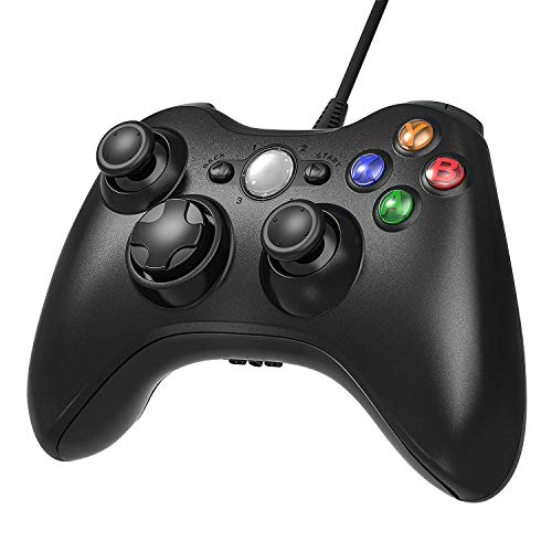 Diswoe Xbox 360 Controller USB Wired Gaming Controller Für Microsoft, Xbox 360 PC und Windows XP/ 7/8/10