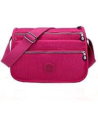 c71d609e33 Women Waterproof Nylon Messenger Bags Cross Body Shoulder Bags Casual Multi  Pocket Handbag Tote Purse Hot