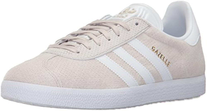adidas Originals Women's Gazelle W W W Sneaker, Clear Brown/White/Gold Metallic, 8.5 M US 88273d