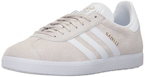 adidas Originals Women's Gazelle W Sneaker, Clear Brown/White/Gold Metallic, 9.5 M US