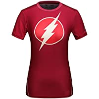 Cody Lundin® T-Shirt manches courtes Femme,Sport Fitness Running Yoga Danse Tees Super-héros Flash Shirt