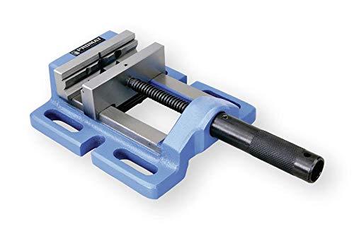 Promat Maschinenschraubstock für Tisch- und Ständerbohrmaschinen | Abmessung LxBxH (mm): 170 x 154 x 63 | Ausführung: Schlitzabstand Mitte/Mitte 120 mm | Backen-Breite (mm): 100