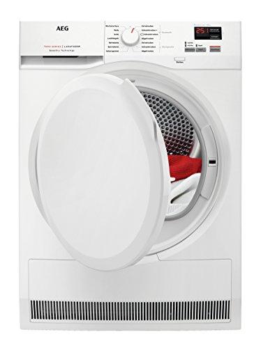AEG T7DBZ4680 Wäsche-/ Kondenstrockner / Weiß / mit energiesparender Wärmepumpentechnologie und Mengenautomatik / weniger Knitterfalten durch Reversierautomatik / 176 kWh