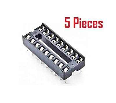 OL ELECTRONICS 16 Pin DIP IC Socket-Base-Connector for Microcontrollers and IC's (5 Pieces)