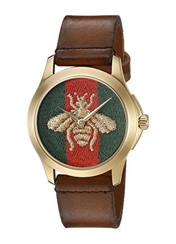 Gucci Unisex Reloj de pulsera G–Timeless analógico de cuarzo piel ya126451