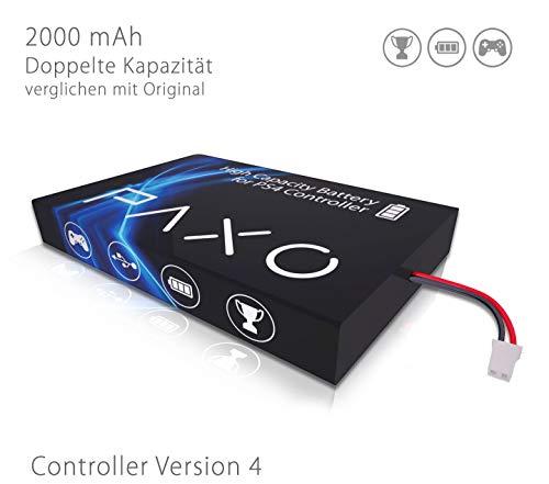 High-Performance Li-Ionen Akku 2000mAh für PS4 Controller Version 4 // Austausch Set mit Foto-Anleitung und Werkzeug zum Öffnen des Controllers