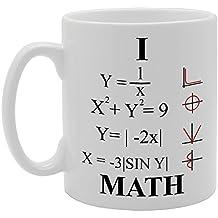 mg639 I Love matemáticas de la novedad regalo impreso té café taza de cerámica