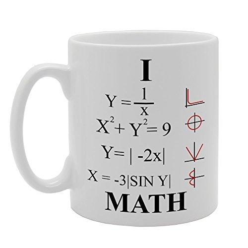 mg639I Love matemáticas de la novedad regalo impreso té café taza de cerámica