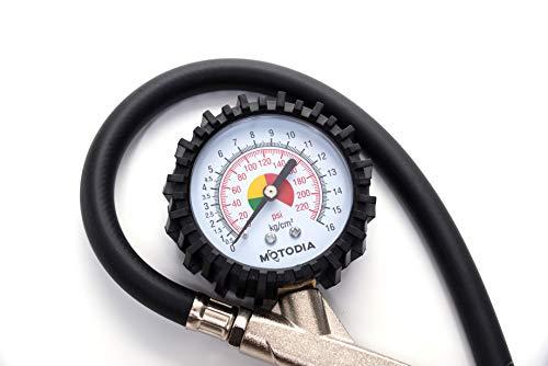 MotoDia-MD3-Pompa-digitale-per-pneumatici-con-manometro-220-psi-con-elevata-resistenza-ideale-per-auto-moto-e-biciclette-con-valvola-Presta-e-Schrader