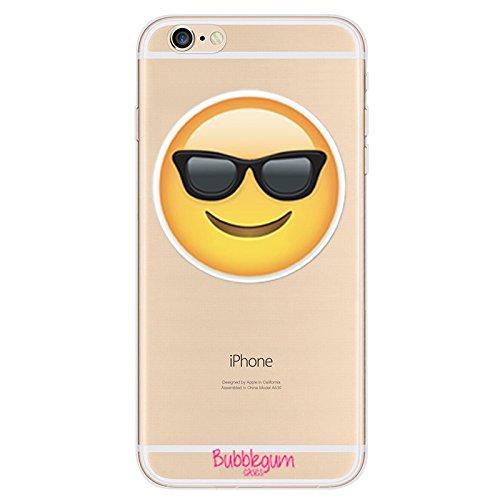 Bubblegum® für iPhone Modelle Emoji-Fall Collection-TPU Schutzhülle Soft Gel Artistic Schutzhülle, Silikon, 1: Emoji Sunglasses, iPhone 6 6s - Disney Fällen 5c Lustig