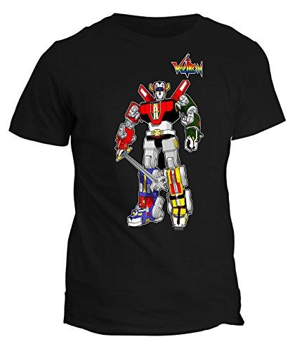 Tshirt Voltron robot - manga anime japan- cartoon cartoni tshirt uomo donna bambino - in cotone by Fashwork Nero