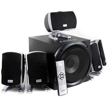 Xenta XForce 5.1 Surround Sound Speakers - 80W RMS