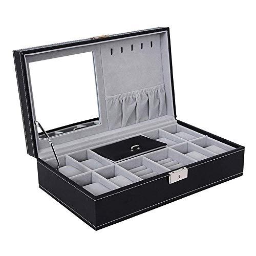 Use Display Organizer, Elegante Aufbewahrung Mit Metallverschluss FüR Bis Zu 8/12 Armbanduhren, Schmuckarmband-Kollektionen ()