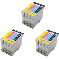 3 Full Sets = 12 High Capacity Compatible Ink Cartridges Multipack T0445 - T0441 T0442 T0443 T0444 for Epson Stylus C64 C66 C84 C86 CX3600 CX3650 CX4600 CX6400 CX6600 Printers