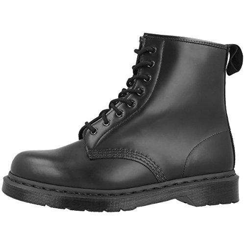 Dr. Martens 1460 MONO Smooth BLACK, Unisex-Erwachsene Combat Boots, Schwarz (Black), 45 EU (10 Erwachsene UK) - Doc Martens Schwarz 1460 Stiefel