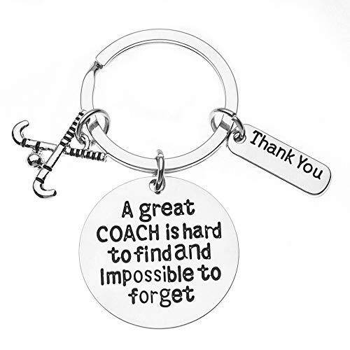Sportybella Field Hockey Coach Schlüsselanhänger, Feldhockey-Trainer-Geschenke, Groß Coach ist schwer zu Finden Aber Impossible Keychain zu vergessen für Männer und Frauen