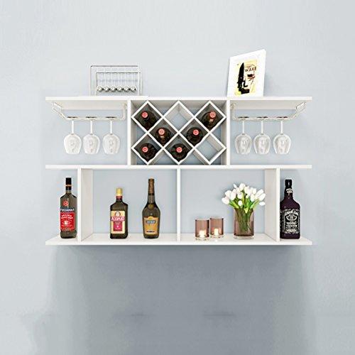 tiert Kühler Weinregal Wandregal Holz Rhombic Wein Gitter Restaurant Hung Haushalt Weinregal Felice Home (größe : M) ()