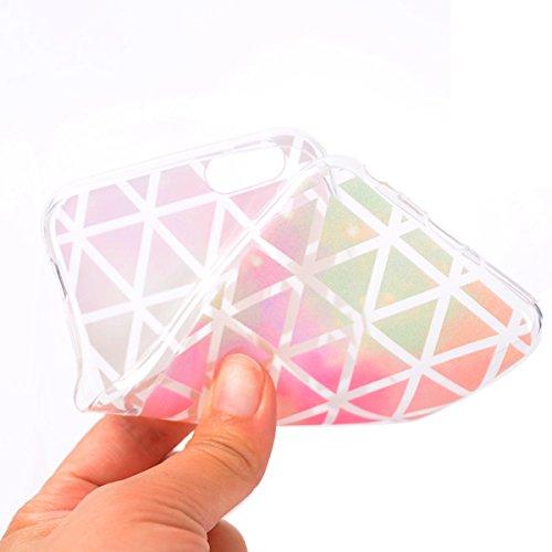 Coque iPhone 6 Plus, iPhone 6 Plus Coque Silicone, SainCat Ultra Slim Transparent TPU Case pour iPhone 6/6S Plus, Anti-Scratch Gel Housse Transparent Silicone Case, Support Protection Anti Choc Shell, diamant