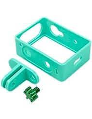 TMC Plastic Frame Mount Housing For Xiaomi Yi Sport Camera(Green)