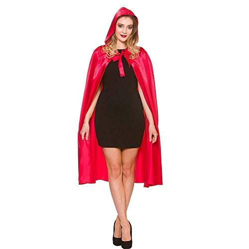 en Red Short Satin Hooded Cape Fancy Dress Accessory 43� ()