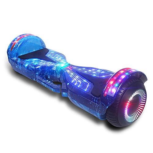 """ZJDU Selbstausgleichender Roller,Elektrischer Selbstausgleichender Smart Scooter,Hover Board 6,5\""""Zweirad,Mit Bluetooth-Lautsprecher Und LED-Leuchten,Für Erwachsene Kinder Geschenk,A1"""