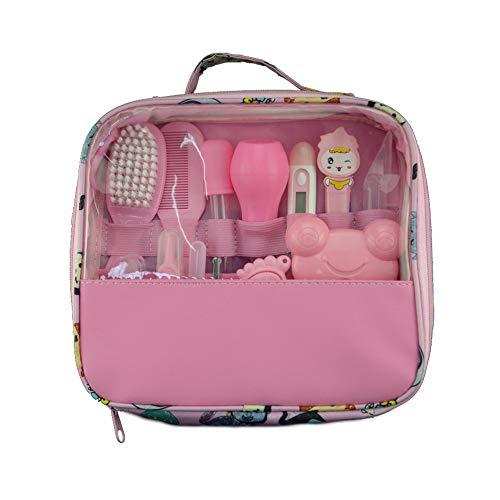 Vvciic borsa per il kit per la cura del bambino 13 pezzi accessori per la cura della casa essenziale per l'uso con la borsa per il trasporto (rosa)