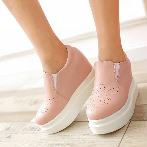 Mee Shoes Damen bequem hidden heel Durchgängiges Plateau Pink