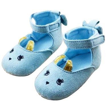 Baby Bucket Pre-Walker Sandal Shoes Light Weight Soft Sole Booties Sandal (Light Blue, 10-15 Months)  available at amazon for Rs.360