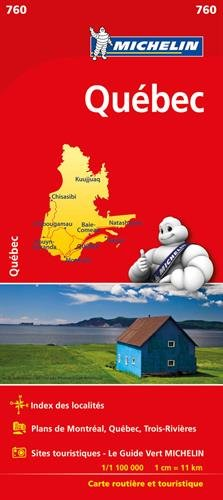 Carte NATIONAL Québec Michelin par Michelin