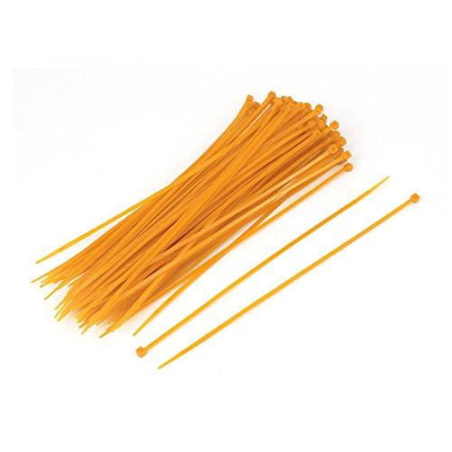 sourcingmap® 100Stk 3mm x 200mm Nylon Reißverschluss Netzwerk Schnur Kabelbinder orange de -