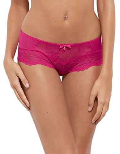 Gossard 7714 Women's Superboost Lace Bright Rose Pink Knicker Shorties Boyshort XLarge (Boyshort Rosen)