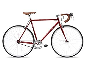 Kingston Hoxton, Mens Single Speed Fixie Bike, Deep Red (50cm)