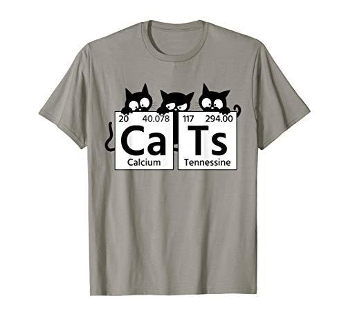 Witzige Katzen Cats für Chemiker Biologen Katzenliebhaber T-Shirt (T-shirt Aufstellung)