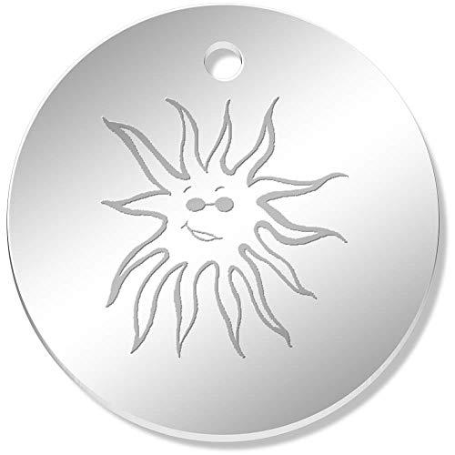 Azeeda 11 x 34mm 'Sonne mit Schattierungen' Gespiegelte Anhänger / Schmuckanhänger (PN00000038)