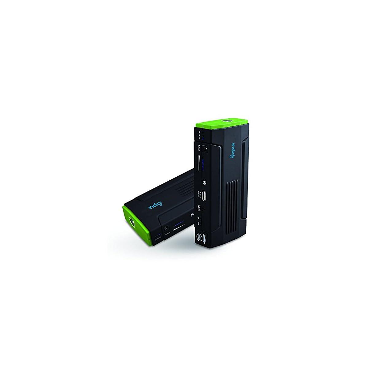 41waQk8UztL. SS1200  - Indigi® 12800mAh resistente portátil salto de arranque emergencia para coche-Car Jump Starter Power Bank iPhone iPad portátil