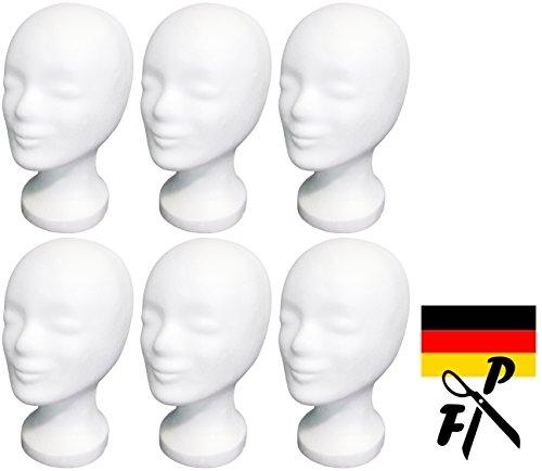 6-Pack FP - Styroporkopf Standard - TOP Marken-Qualität aus deutscher Herstellung - AKTIONSPREIS (weiss)