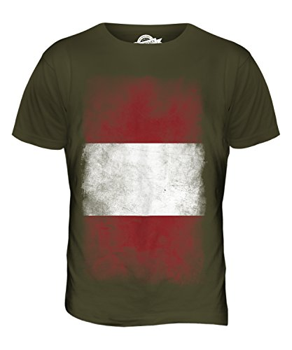 CandyMix Peru Verblichen Flagge Herren T Shirt Khaki Grün