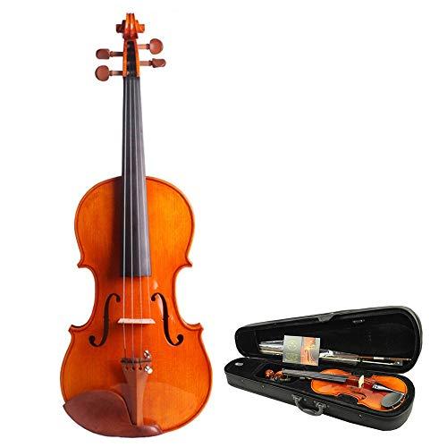 Violino Chin Suite Di Violino Fatto A Mano Di Livello Professionale Di Tronchi 4/4 Full Size Arco Di Violino Caso Duro Di Alta Studenti Di Abete Rosso Lucido Comincia Ad Imparare Il Violino Colofonia