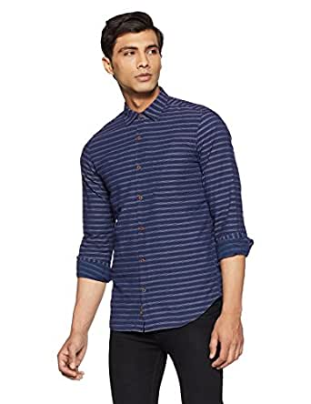BUFFALO By FBB Men's Checkered Regular Fit Casual Shirt (1000857585_Indigo_X-Large)