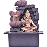 The Great Lord Shiva Blessings Indoor Water Fountain | Fountain for Office | Fountain for Home Decor | Lord Shiva Fountain (Material : Polyresin, Size : 18(L) X 21(B) X 27(H) cms) from Classique.